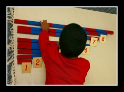 Montessori addition strip board.
